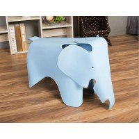 Elephant Lounge Chair In Sky Blue