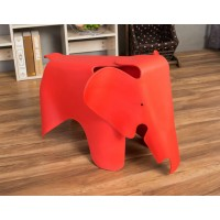 Elephant Lounge Chair In Red