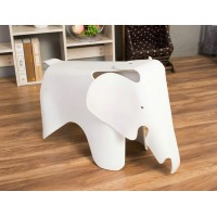 Elephant Lounge Chair In White