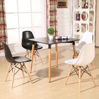 Eames DSW DAW simple style wooden Square table of 80cm diameter