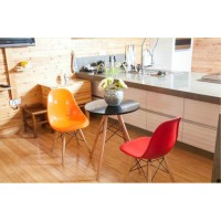 Charles Eames DSW DAW style wooden table of 60cm