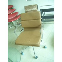 Eames Style office Low Soft Pad Chair,made in PVC leather