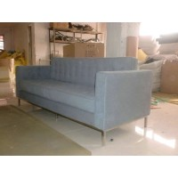 Florence Knoll Sofa,three seats, made in fabric