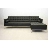 Florence Knoll Corner Sofa, made in PU leather