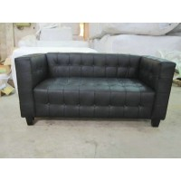 Hoffman Kubus Loveseat,two seaters in Real calf leather