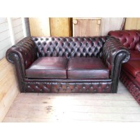 Chesterfield Sofa Loveseat,2 seaters in Real calf leather