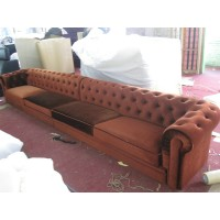 Chesterfield Sofa,4 seaters in fabric