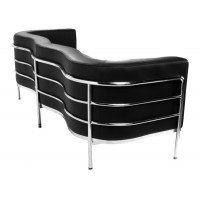 Onda Sofa,three seaters in Real calf leather
