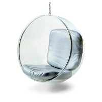 Hanging Bubble Chair in silver