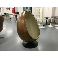 Pod egg chair in wooden shell