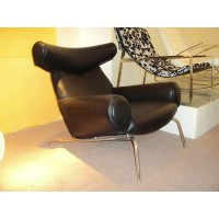 Hans Wegner OX Chair and Ottoman lounge chair