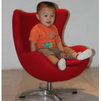 Egg chair in fabric for kids