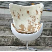 Pony skin cowhide egg chair