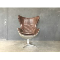 Egg chair with fiberglass shell